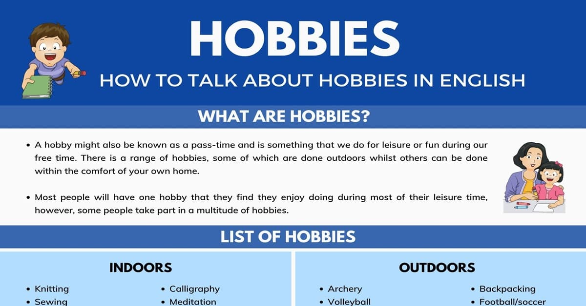 List Of Hobbies