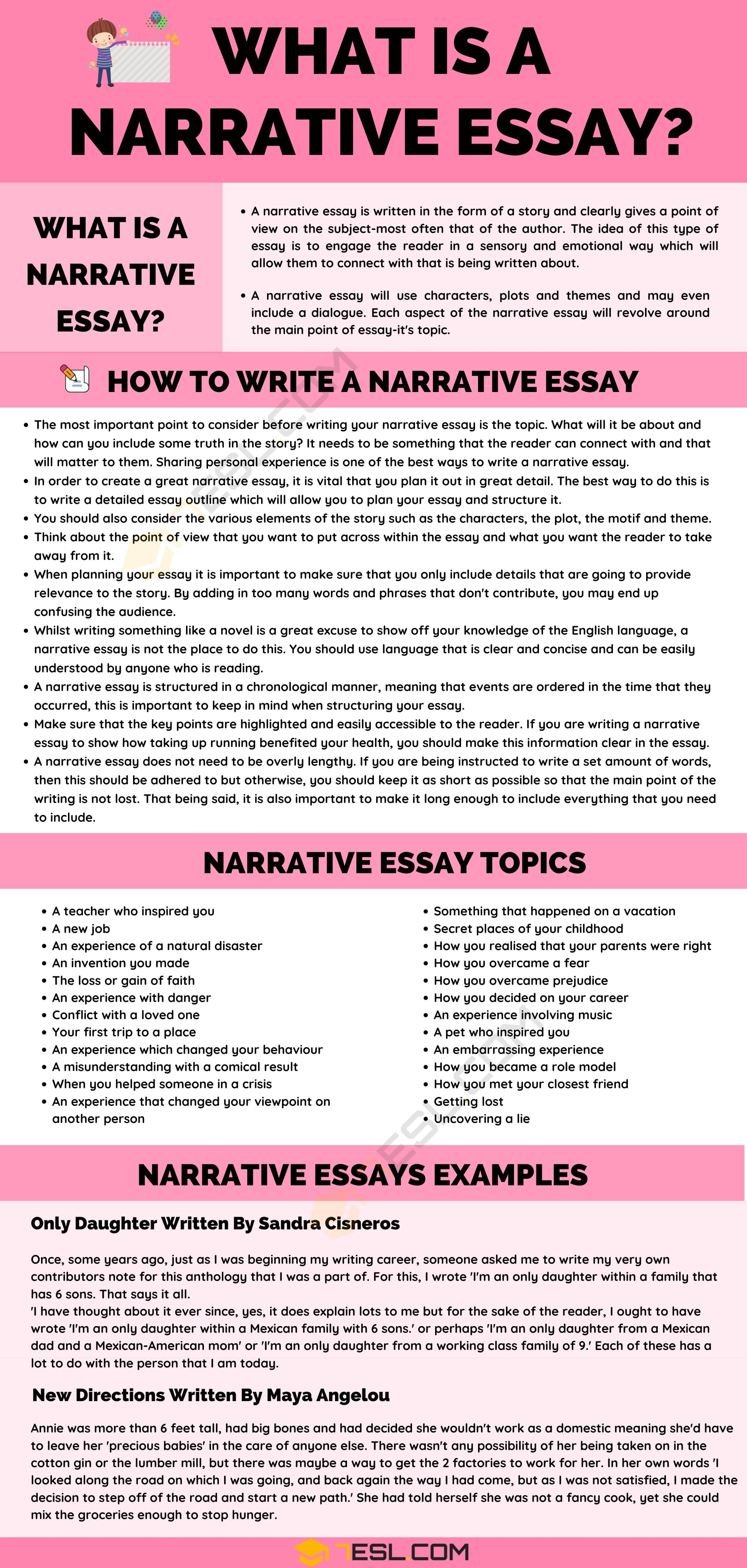 Narrative Essay: Definition, Examples & Useful Tips for Writing a Narrative Essay