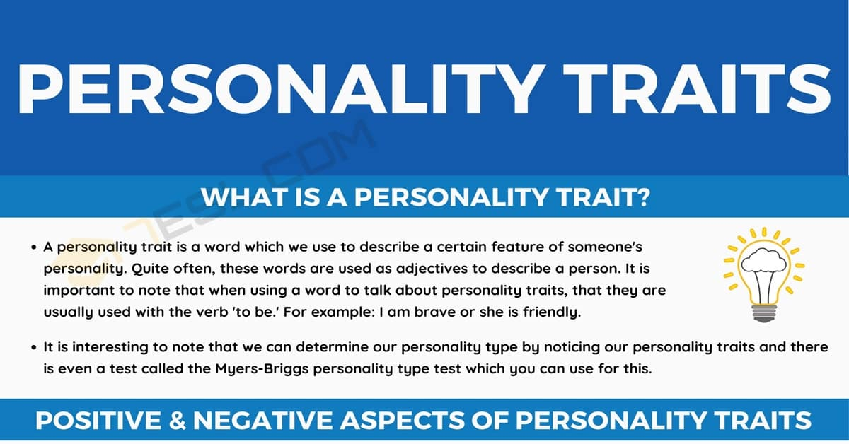 Personality Traits: Examples and List of Positive & Negative Personality Traits 1