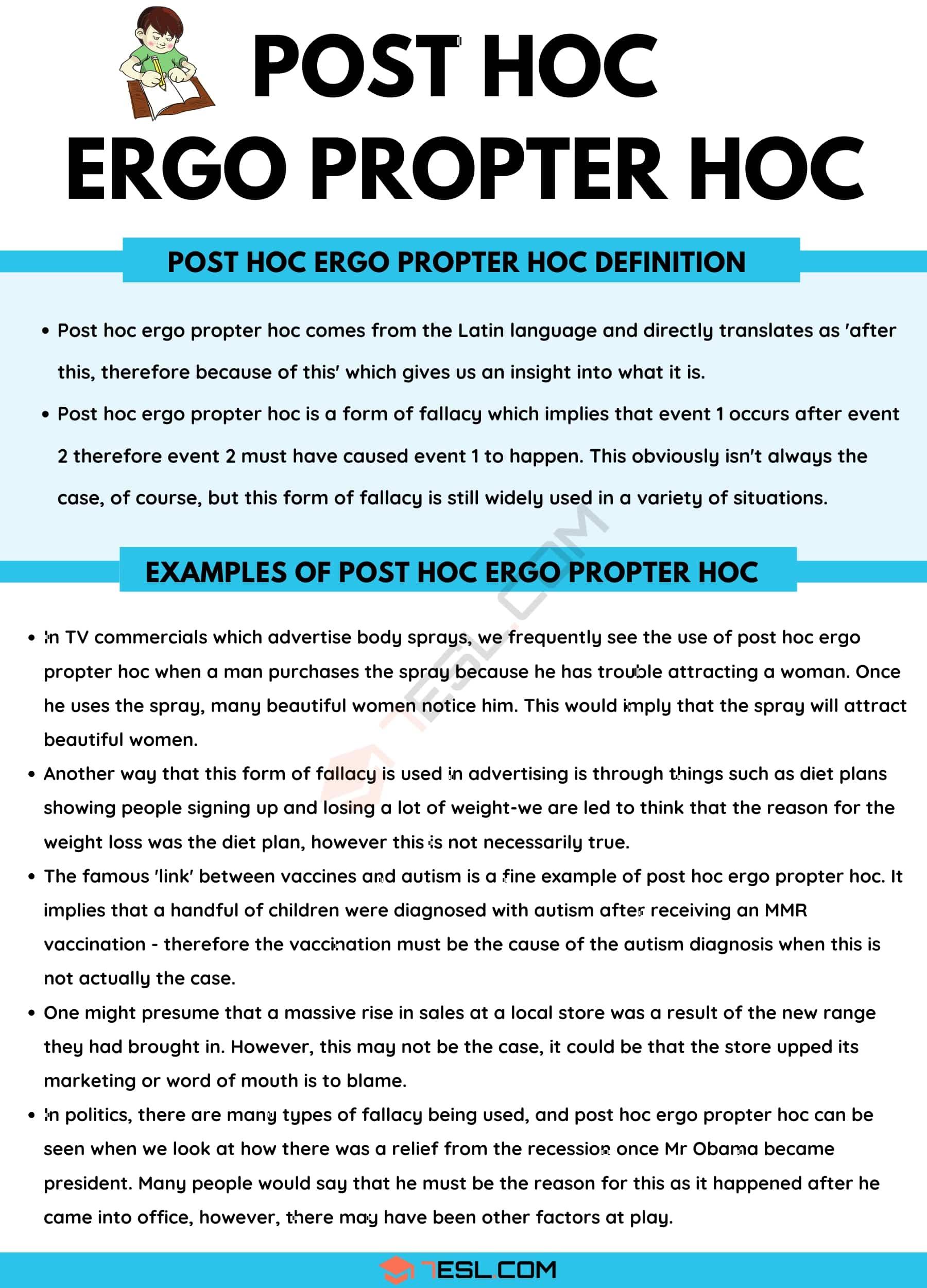 Post Hoc Ergo Propter Hoc: Definition and Useful Examples of Post Hoc Ergo Propter Hoc
