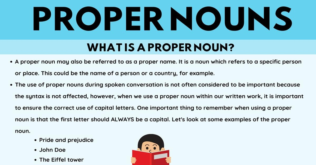 Proper Noun: Definition, Rules and Examples of Proper Nouns 1