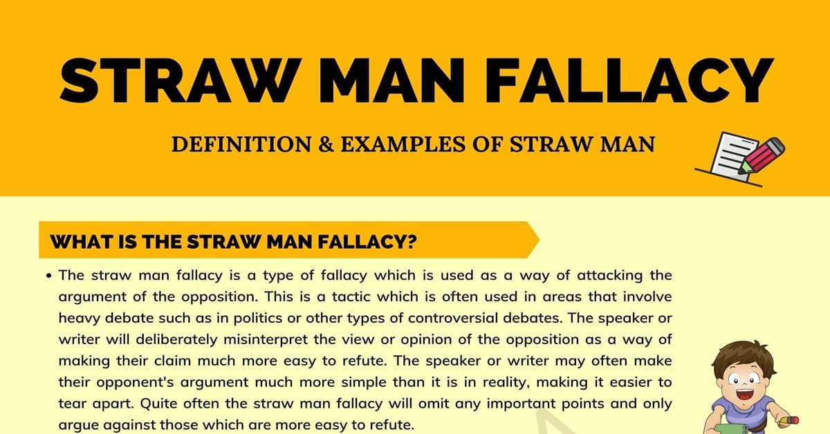 Straw Man Fallacy