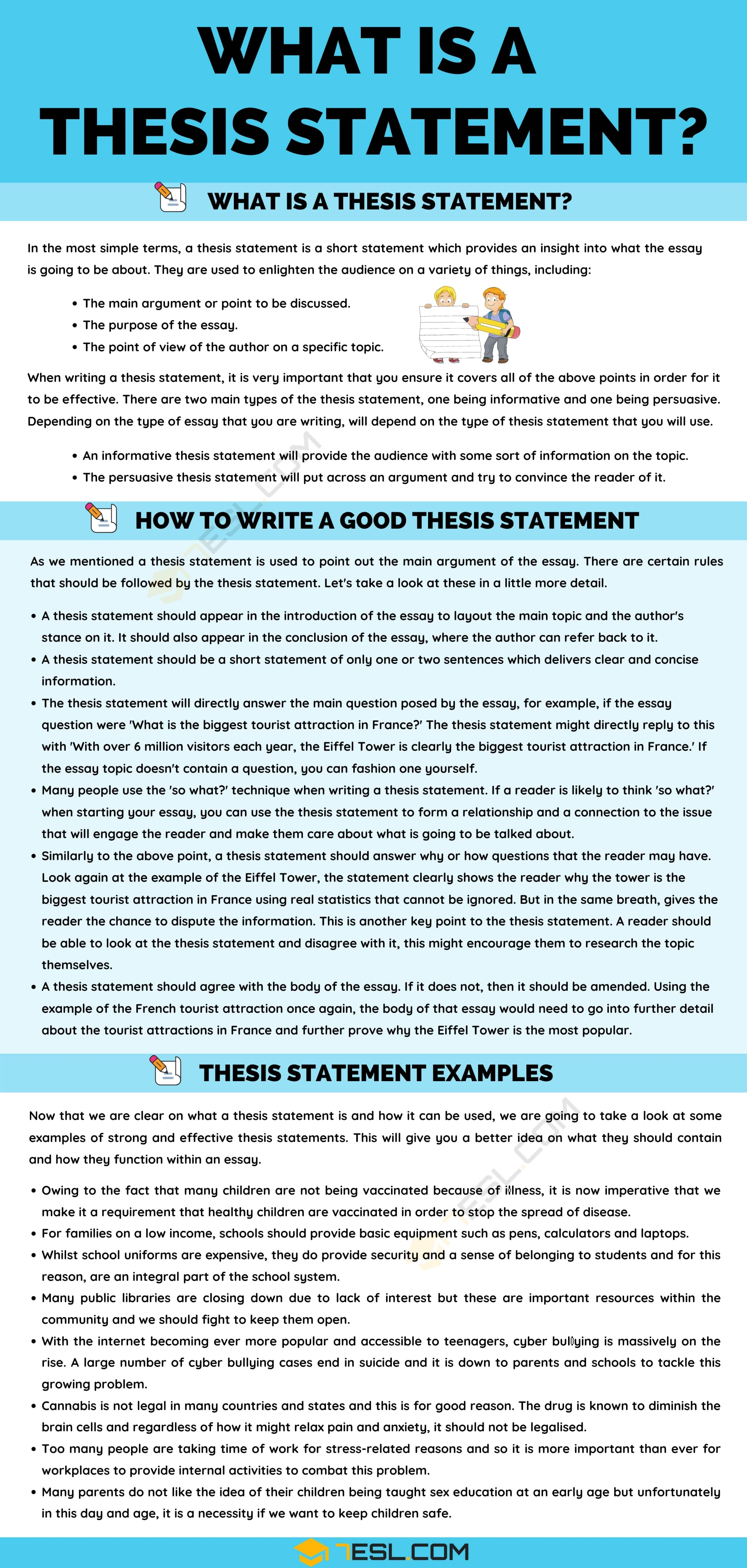 Thesis Statement: Definition, Useful Tips and Examples of Thesis Statement