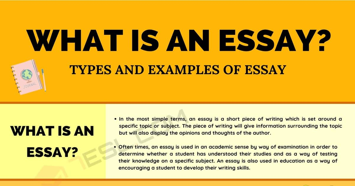 What Is an Essay? Different Types of Essays with Examples 1