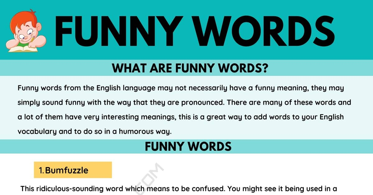 Funny Words: The 10 Funnies Words in The English Language 8