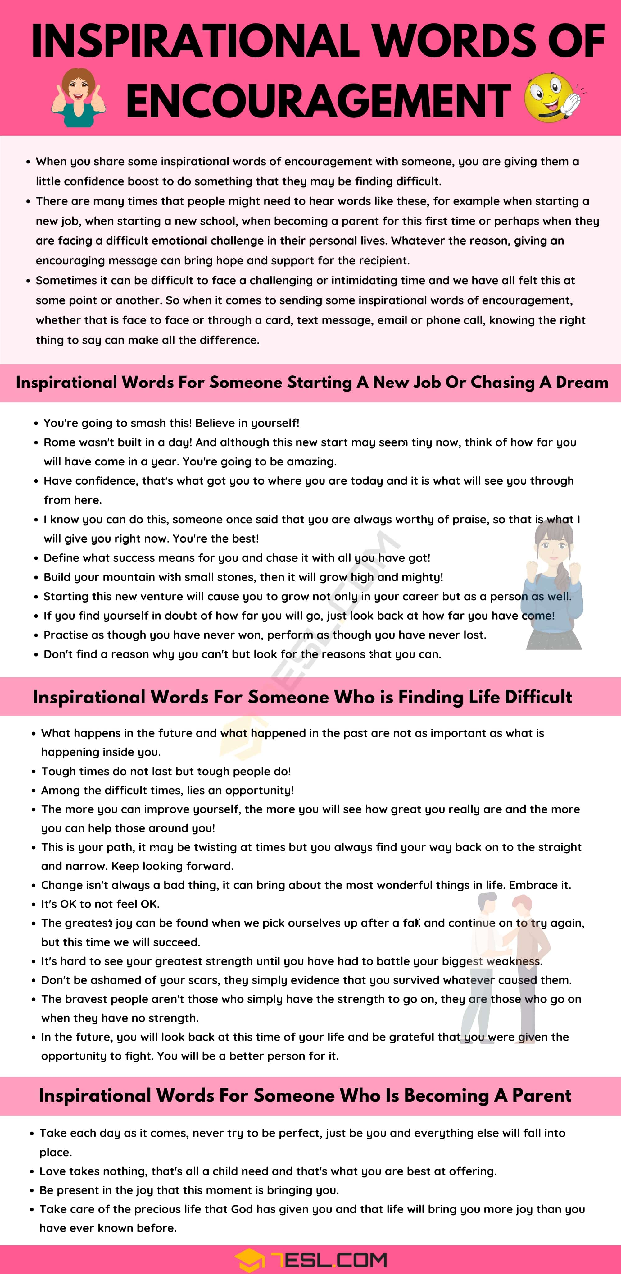 Top 30 Inspirational Words Of Encouragement to Motivate Your Friends and Others
