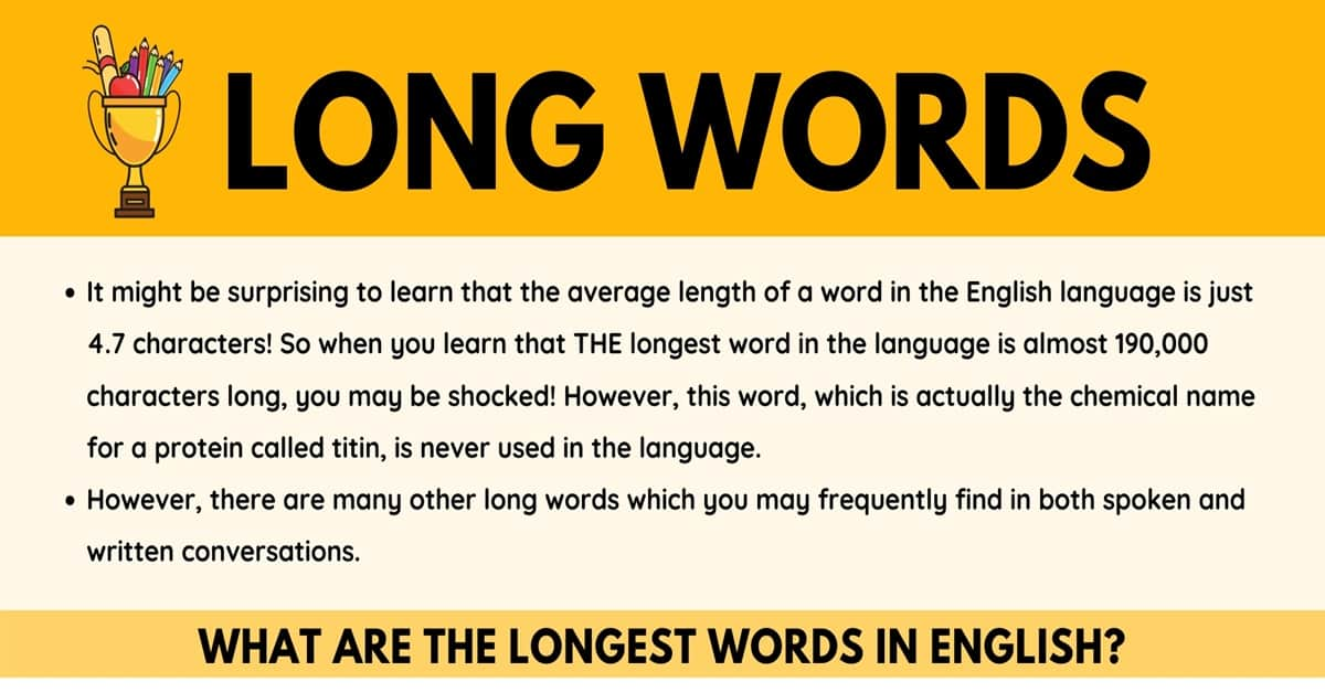 The Longest Words in English! & Commonly Used Long Words in English 1