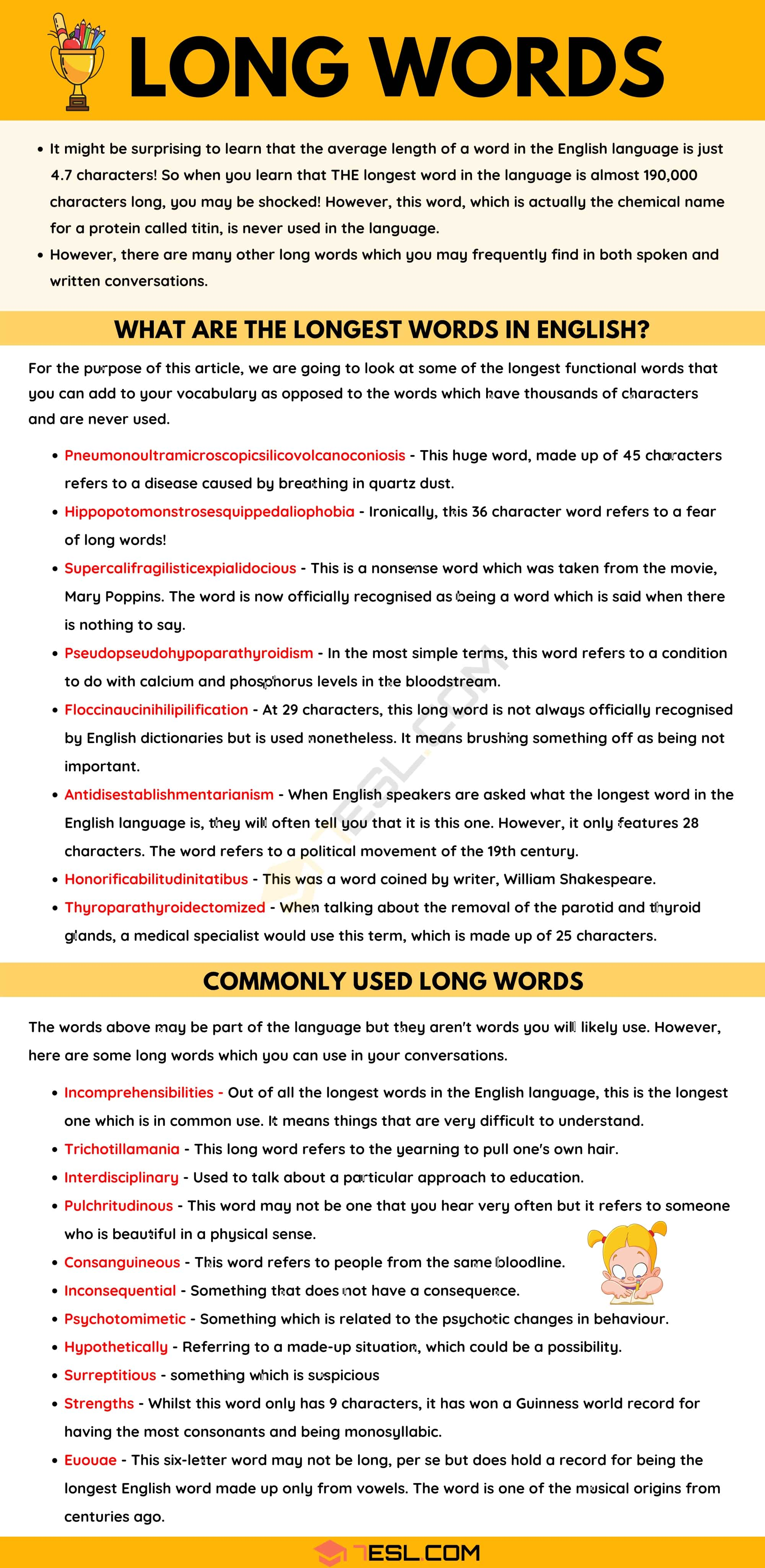 Long Words: What are Longest Words? Commonly Used Long Words in English