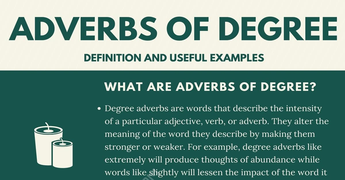 How to Use Adverbs of Degree with Useful Examples 2
