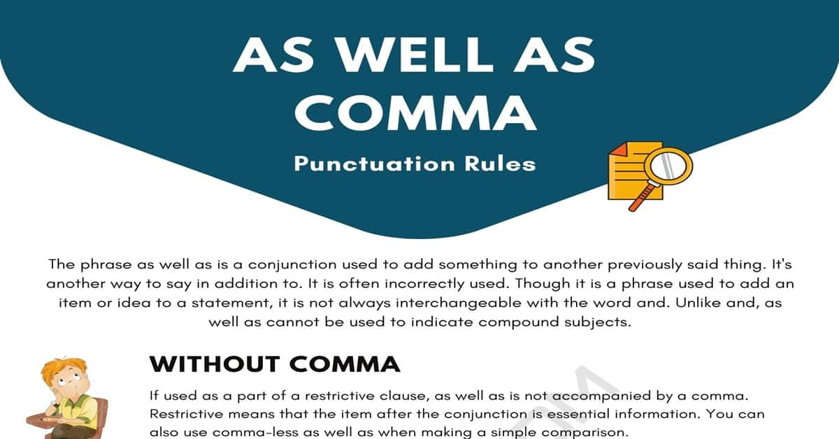 As Well As Comma