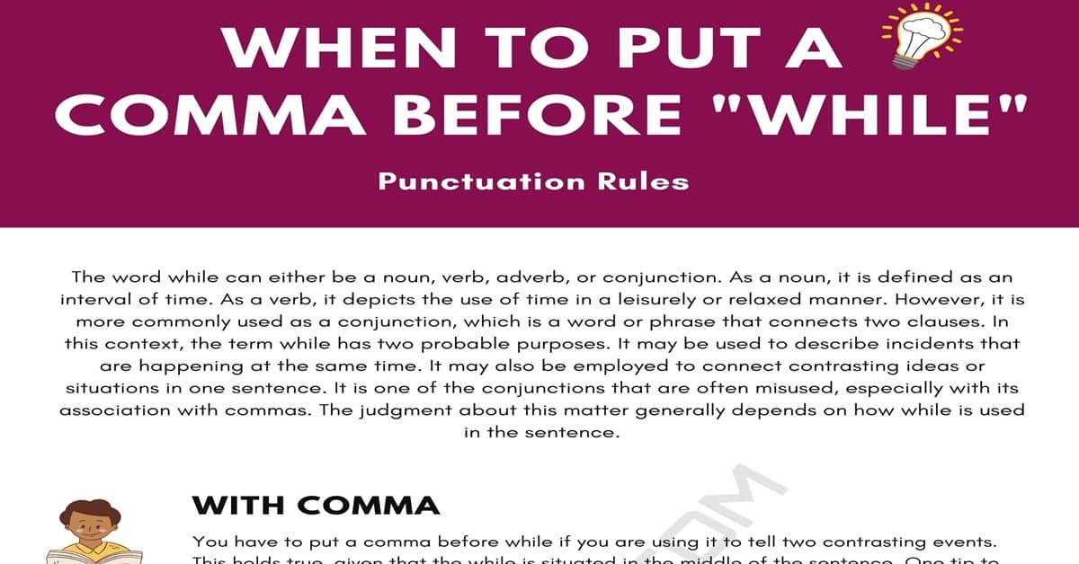 Comma Before While