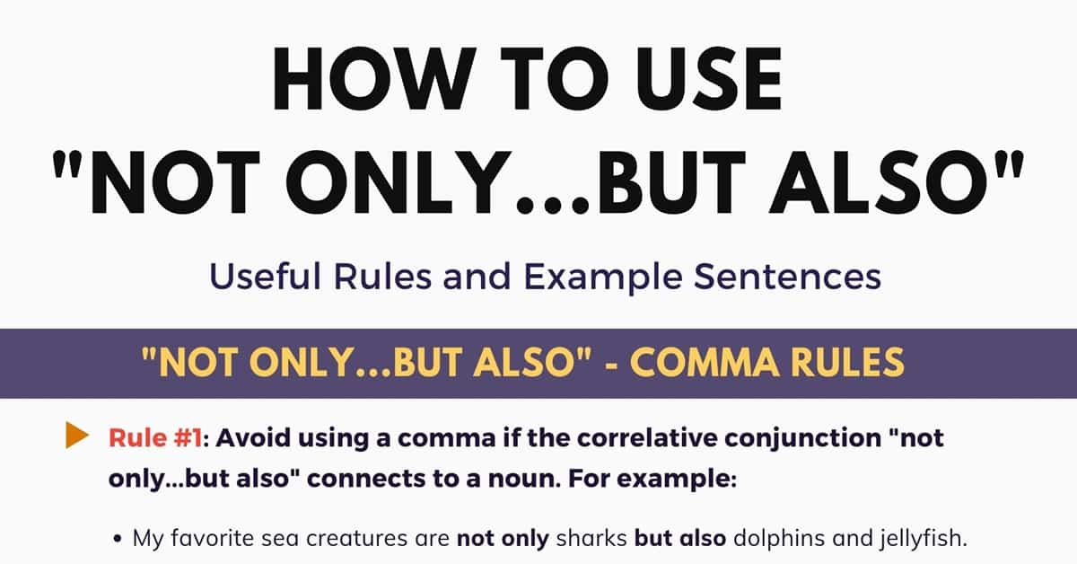 Not Only But Also: Important Rules and Example Sentences 1