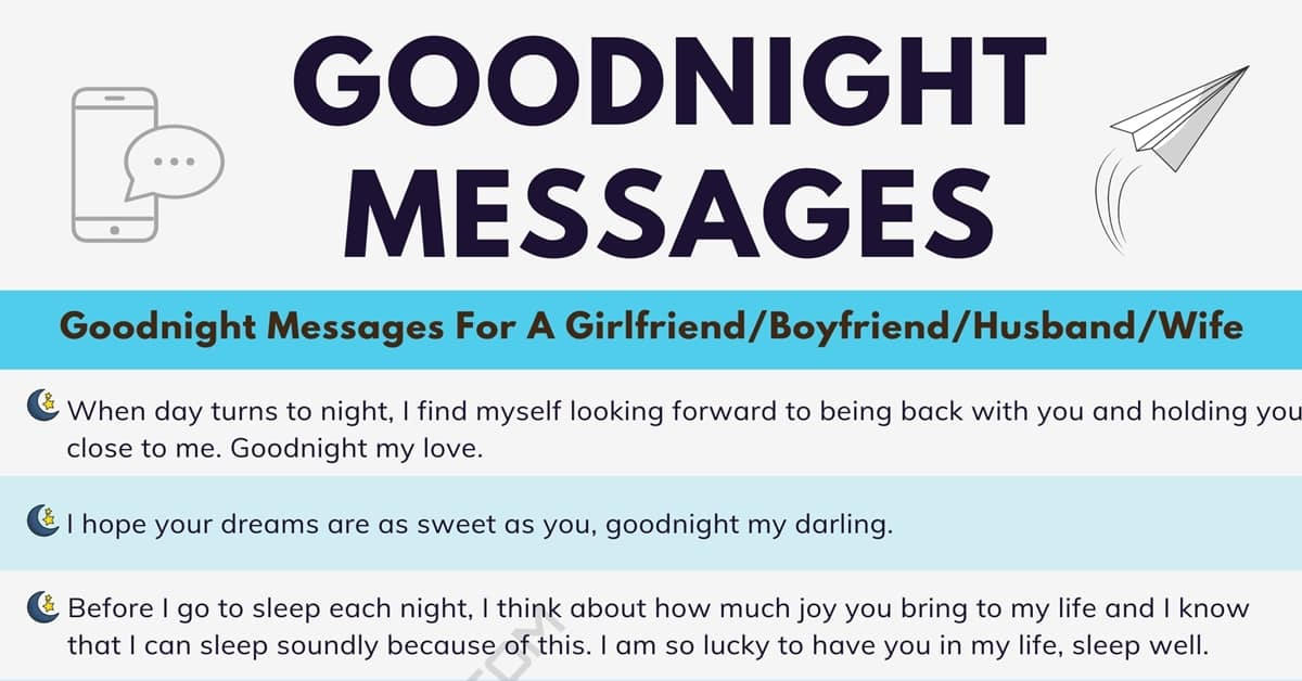 30+ Meaningful Goodnight Messages For Someone You Love 6