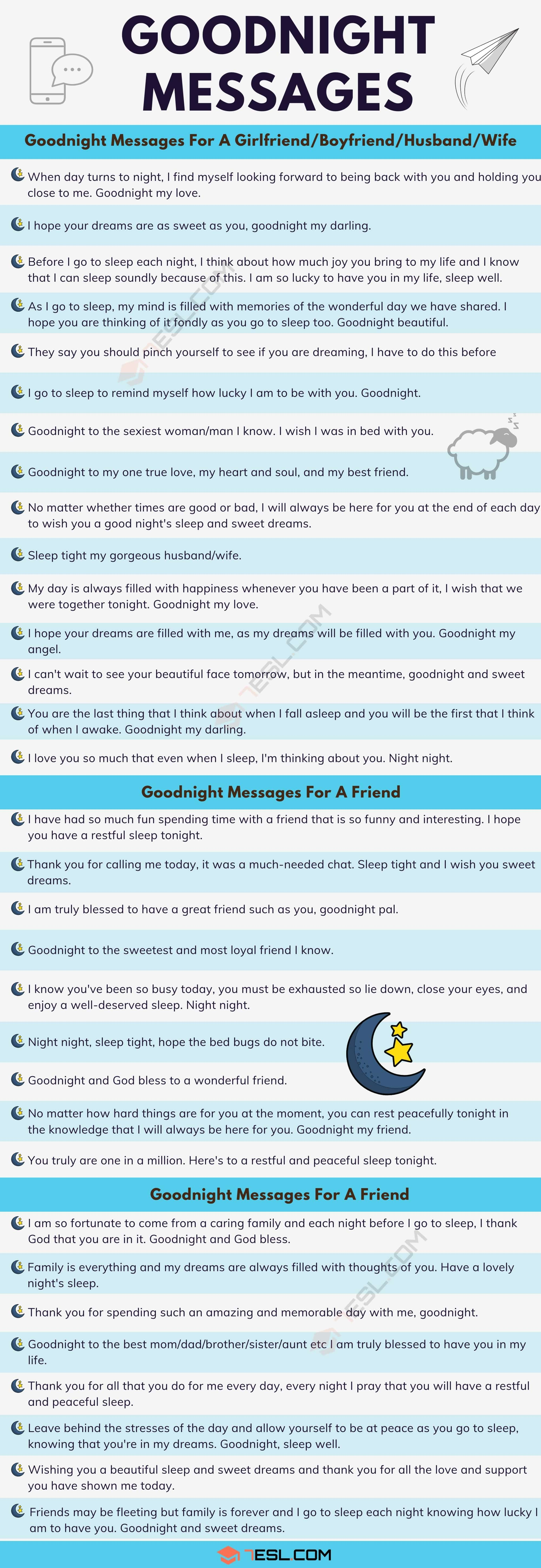 Goodnight Messages: 30+ Meaningful Goodnight Messages For Someone You Love