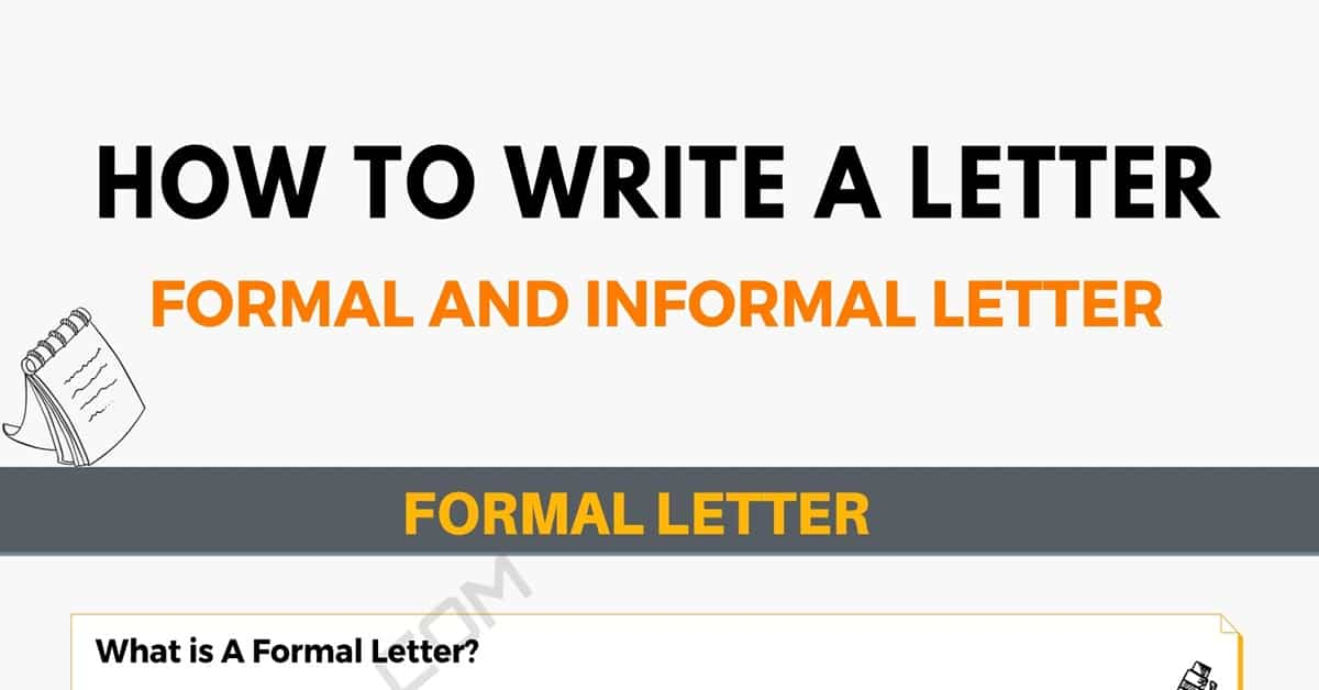 How to Write A Letter: Writing the Perfect Formal and Informal Letter! 2
