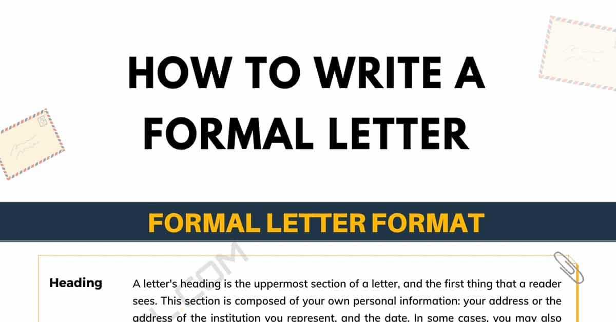 How to Write a Formal Letter in English: Useful Tips, Tricks and Things to Avoid 1