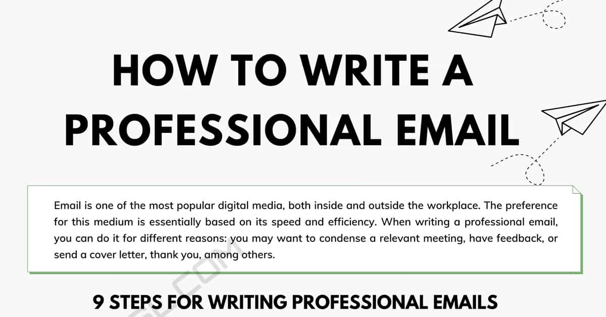 How to Write a Professional Email in English 3