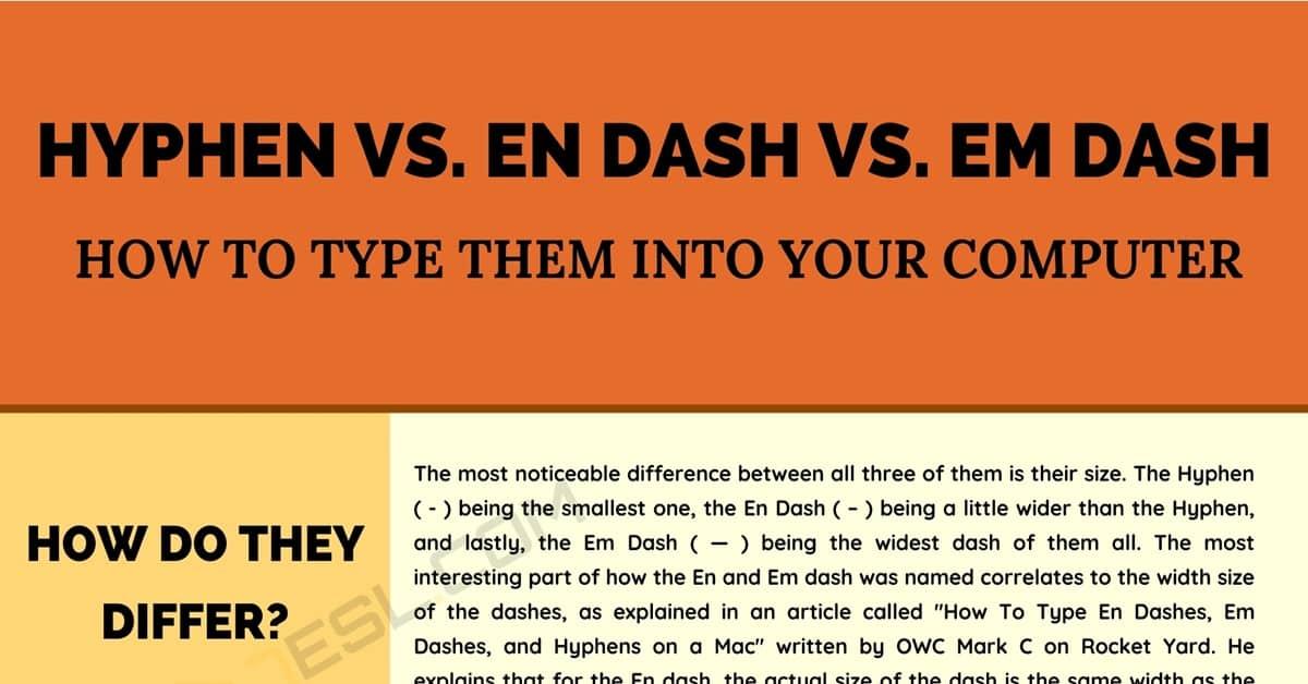 Em Dash vs En Dash vs Hyphen: How to Type Them Into Your Computer 1