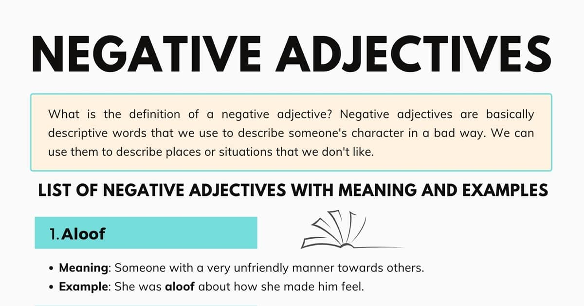 Negative Adjectives: 800 Negative Adjectives to Describe People, Places, or Things 1