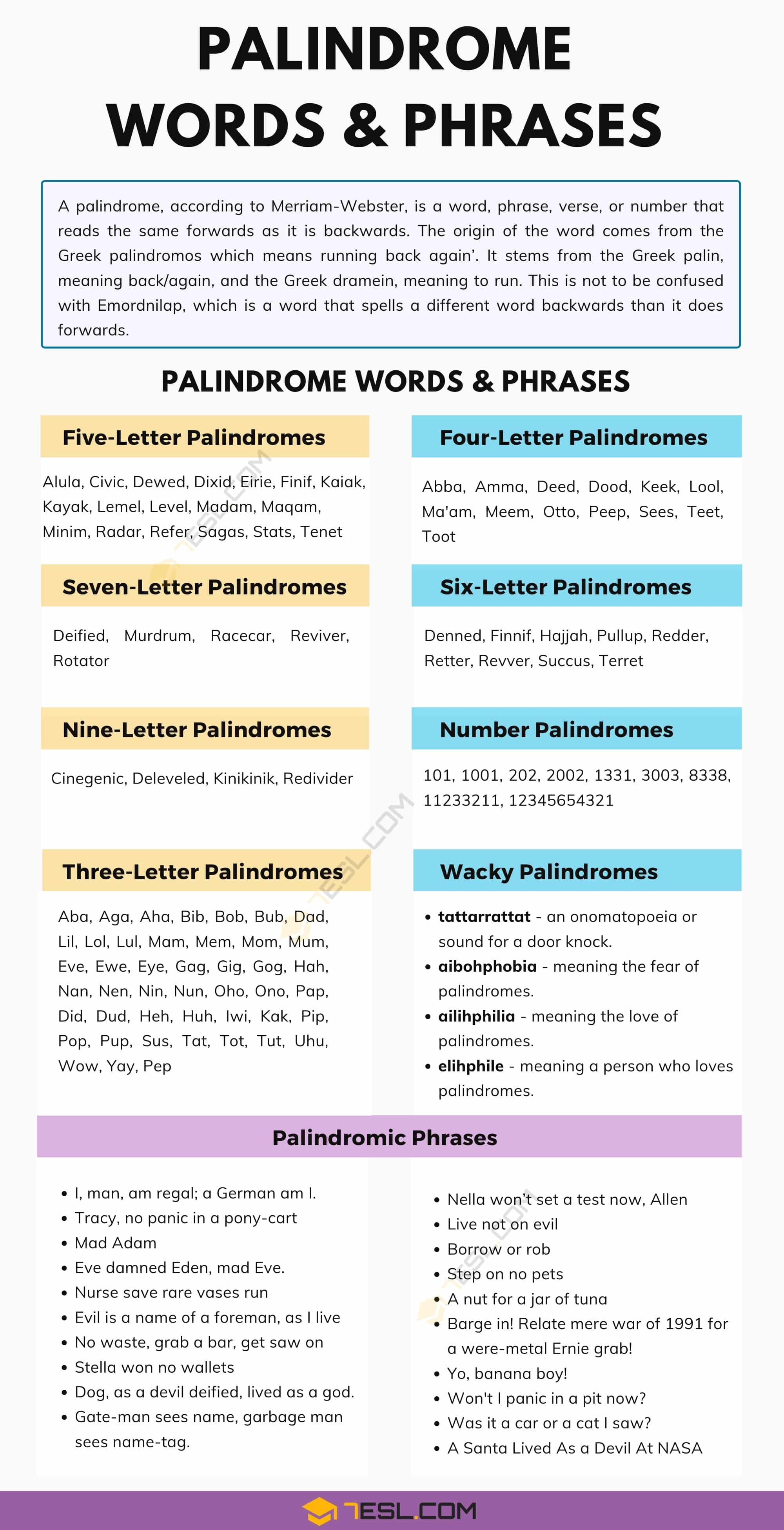 Interesting Palindrome Words & Phrases You're Sure to Love!