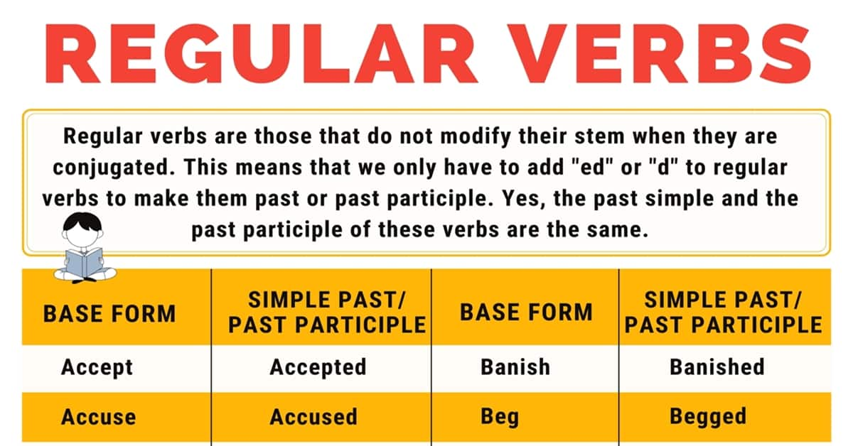 Regular Verbs: List of 300+ Useful Regular Verbs in English 1