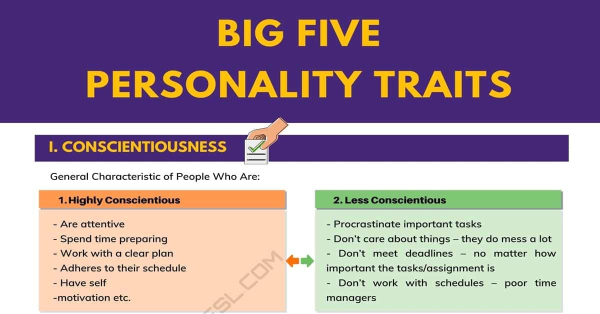 Conscientiousness big five definition