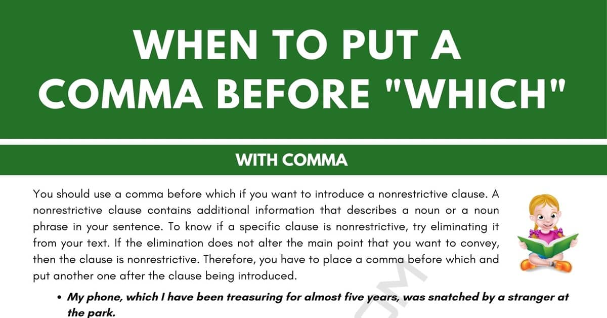 Comma Before Which