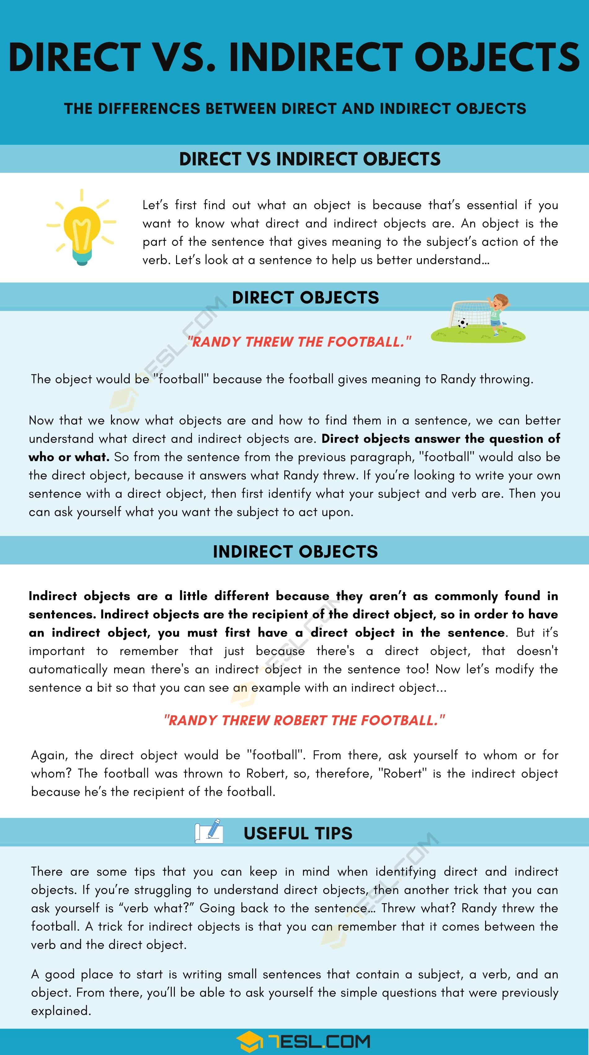 The Differences Between Direct and Indirect Objects in English Grammar
