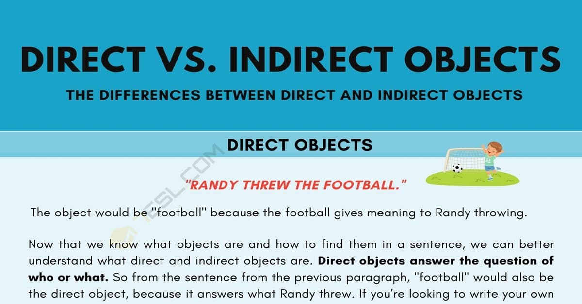 Direct and Indirect Objects in English Grammar | Useful Tips & Examples 1