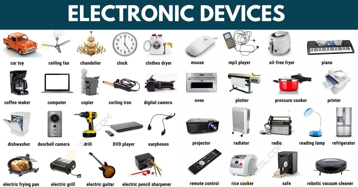 100 Common Electronic Devices in English with Pictures 1