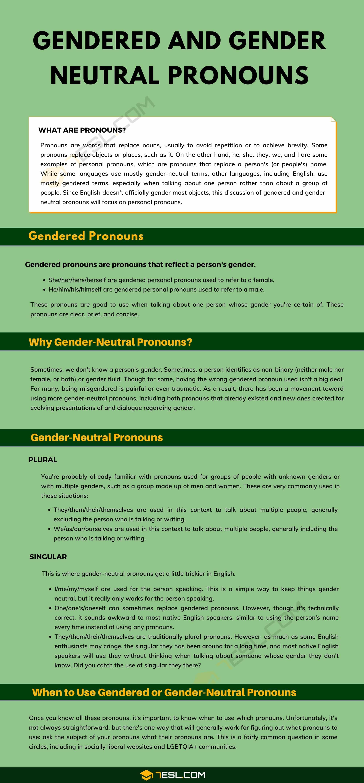 Gender-Neutral Pronouns