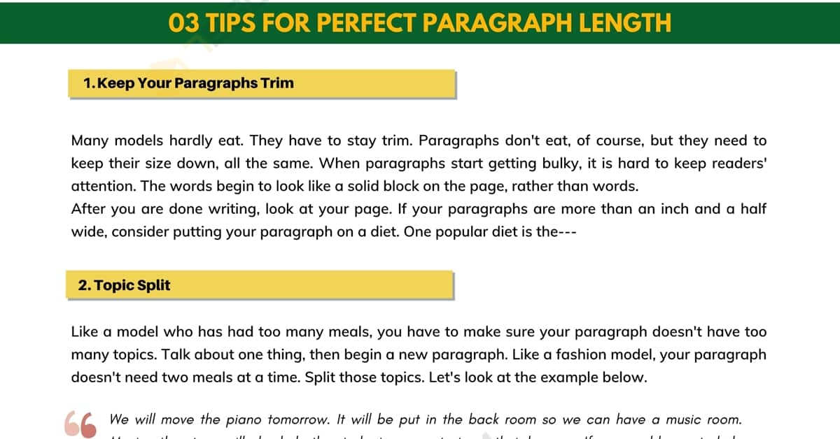 Paragraph Length: How Long Is A Paragraph? 1