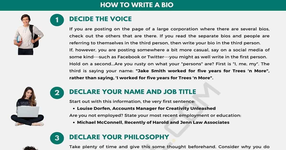 How to Write A Bio