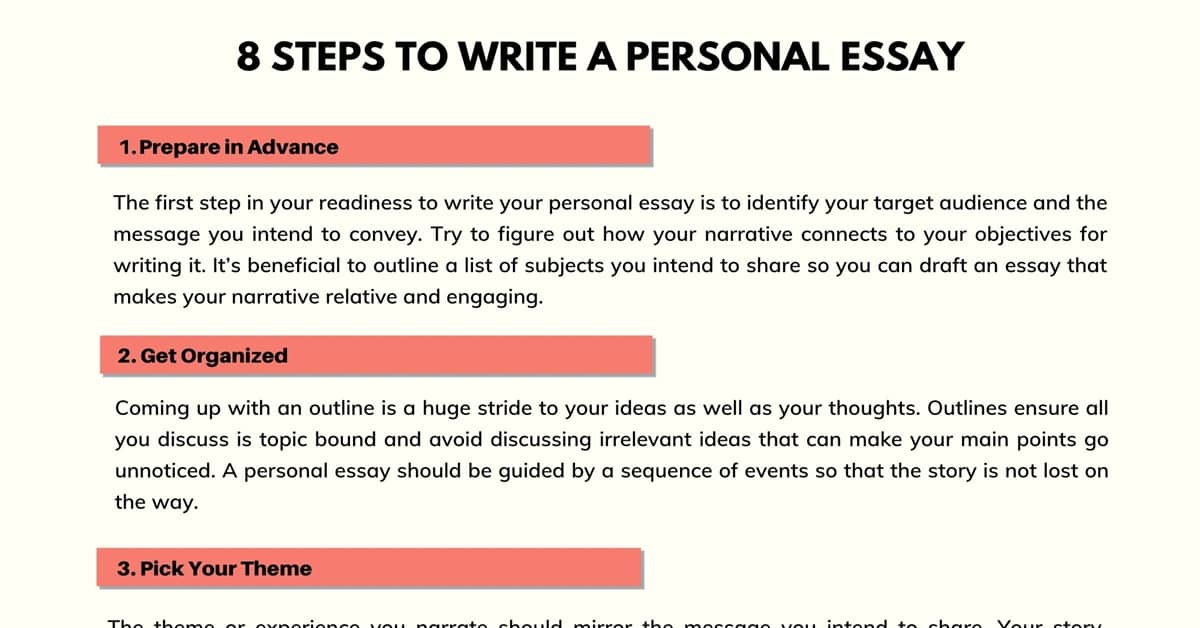 Personal Essay | How to Write a Personal Essay in English 1