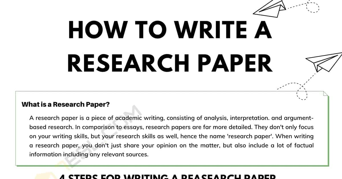 How to Write a Research Paper in English | 4 Simple Steps 1