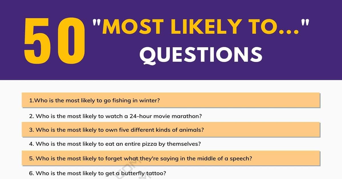 50 of the Best Most Likely to Questions to Start Conversations 4