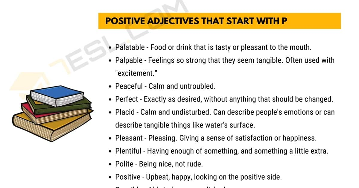 Positive Words that Start with P (Adjectives, Verbs, Nouns) 1
