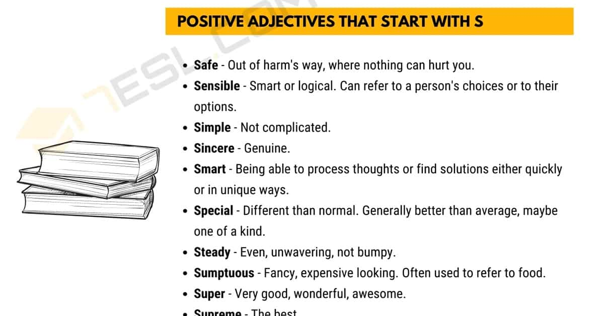 Positive Words that Start with S (Adjectives, Verbs, Nouns) 6