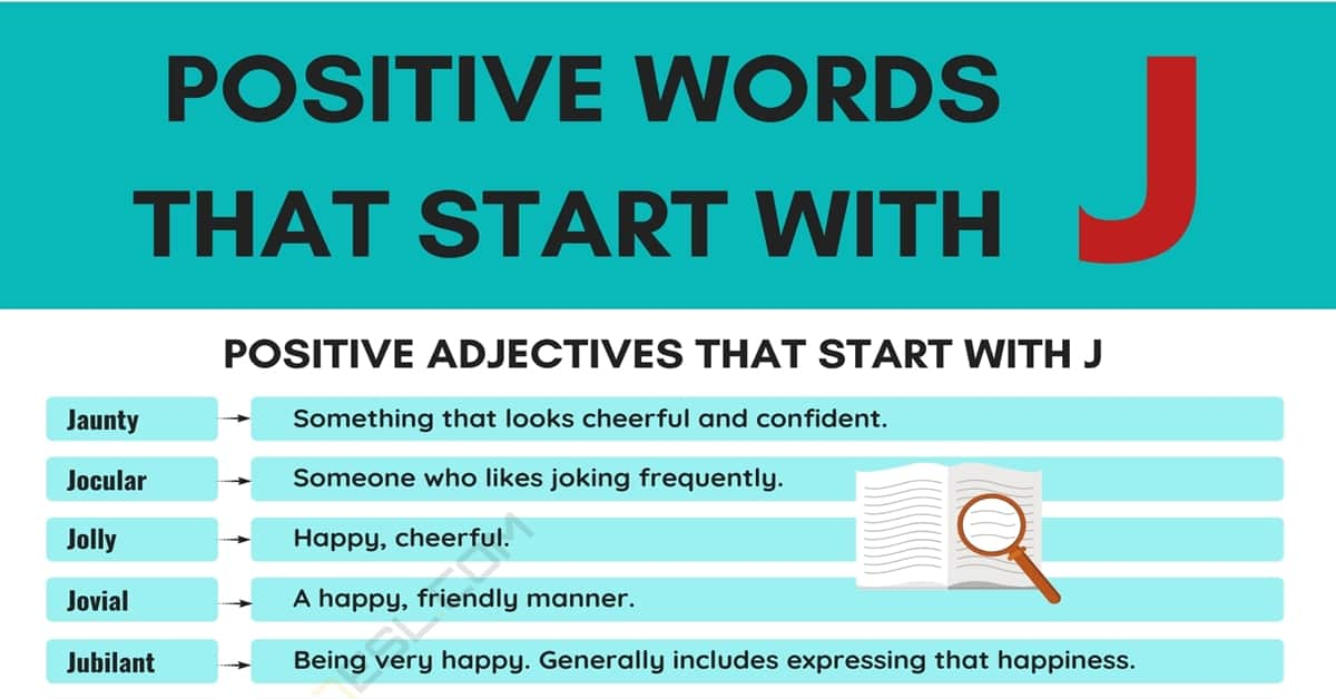 Positive Words that Start with J (Adjectives, Verbs, Nouns) 1