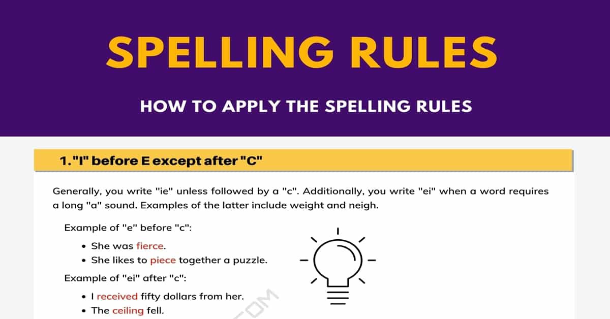 6 Most Important Spelling Rules You Need to Know 1