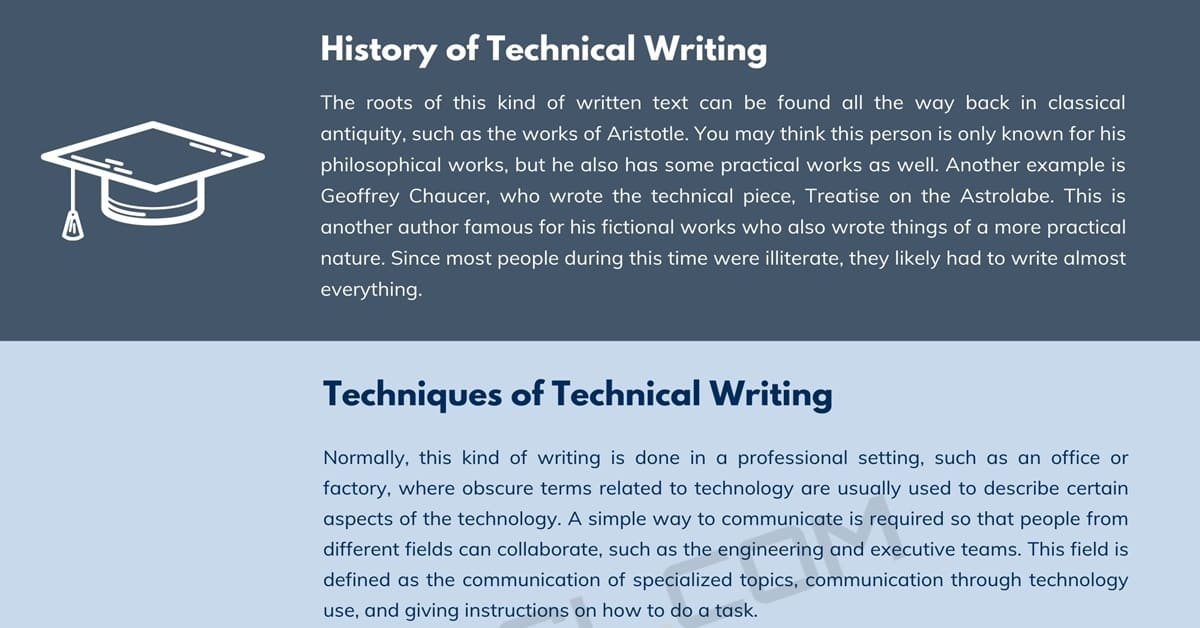 What Is Technical Writing? Techniques and Examples of Technical Writing 1