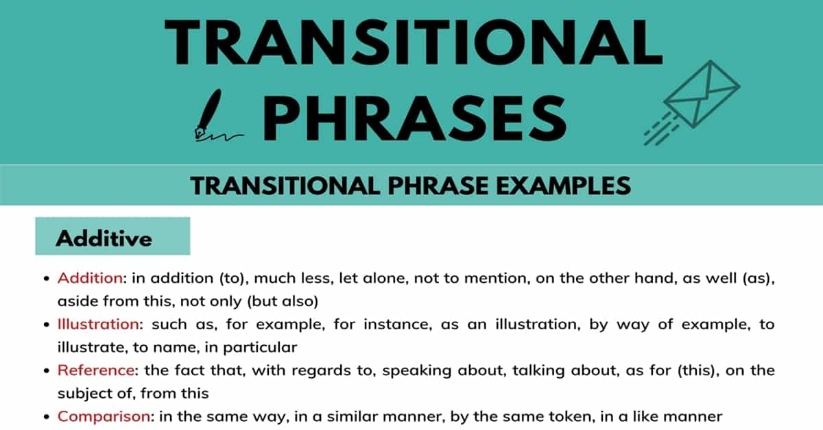 100+ Useful Transitional Phrases (to Keep Your Writing Connected) 3