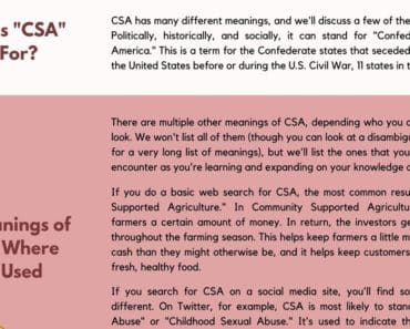 CSA Meaning: Do You Know What CSA Stands for? 7