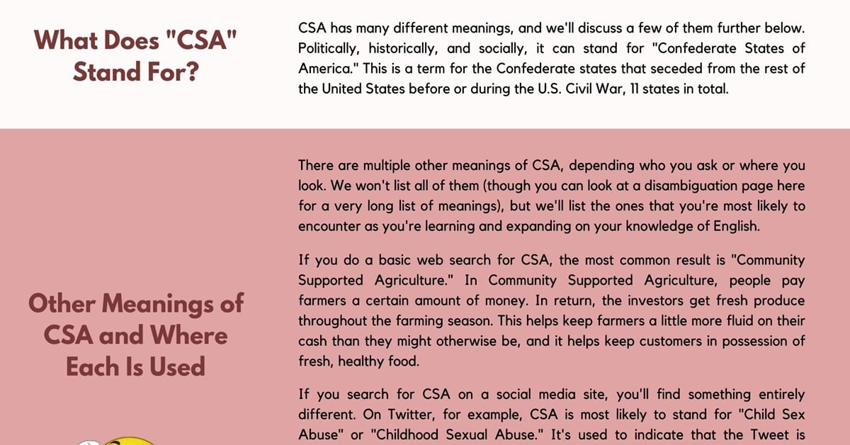 CSA Meaning: Do You Know What CSA Stands for? 1