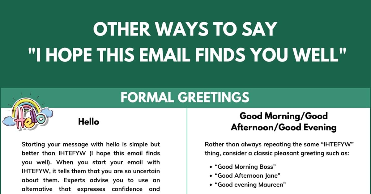 "6 Better Alternatives to ""I Hope This Email Finds You Well"" 3"