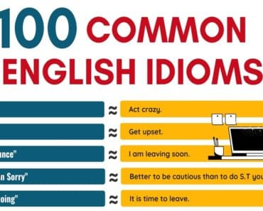100 Common Idioms That You'll Use All the Time 1