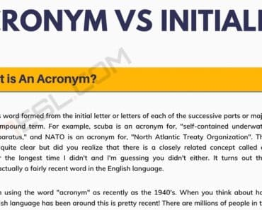 Initialism: What is The Difference between Acronym vs. Initialism 6