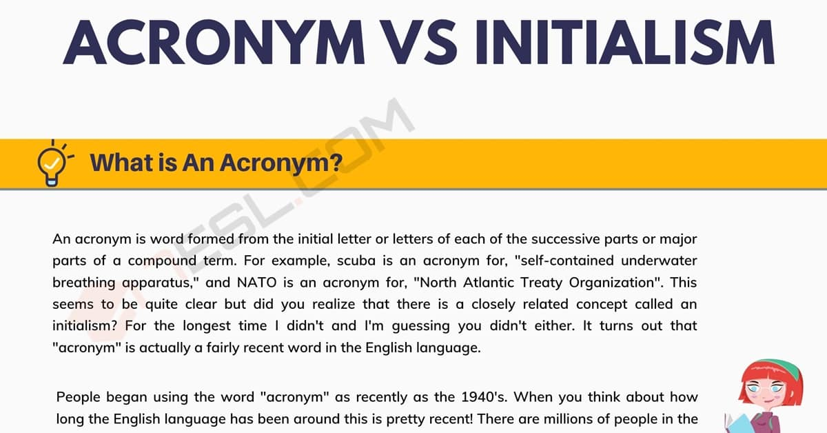 Initialism: What is The Difference between Acronym vs. Initialism 1