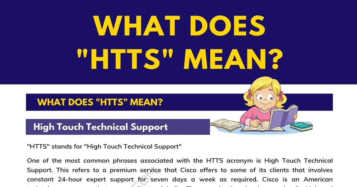 """""""HTTS"""" Meaning 