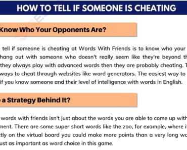 Words with Friends Cheat: How to Tell If Someone Is Cheating 1